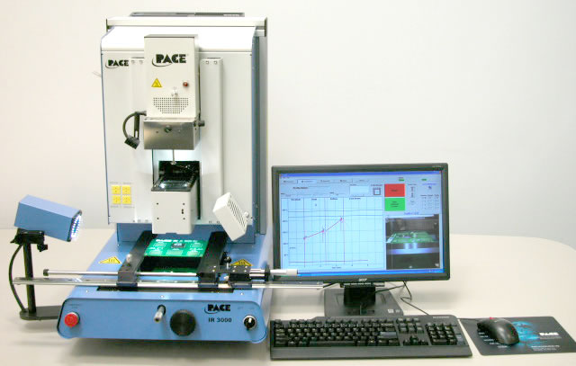 PACE Infrared heated rework station