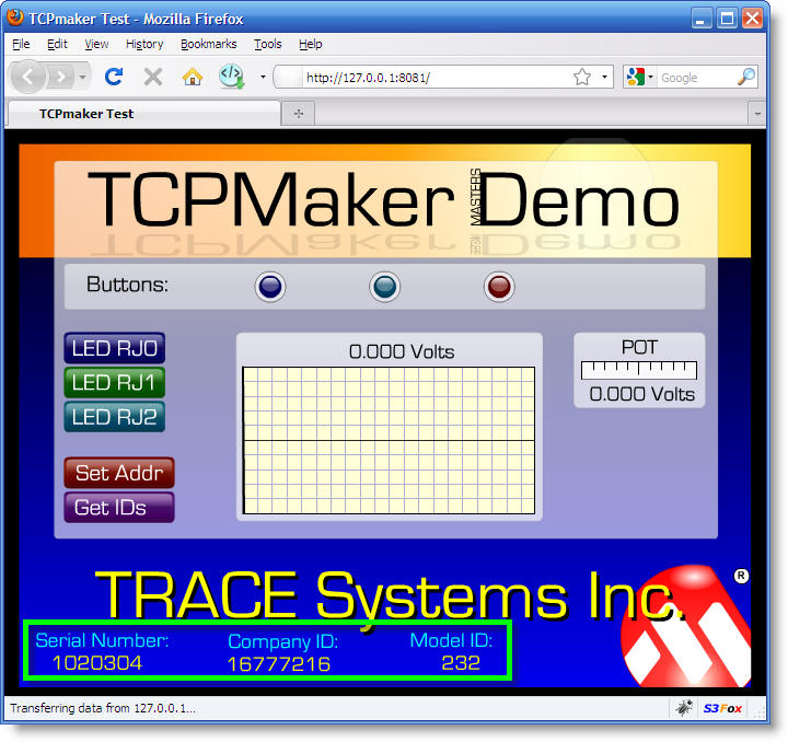 Your TCPmaker firmware can call into the SUMS Bootloader to read Serial Number and IDs